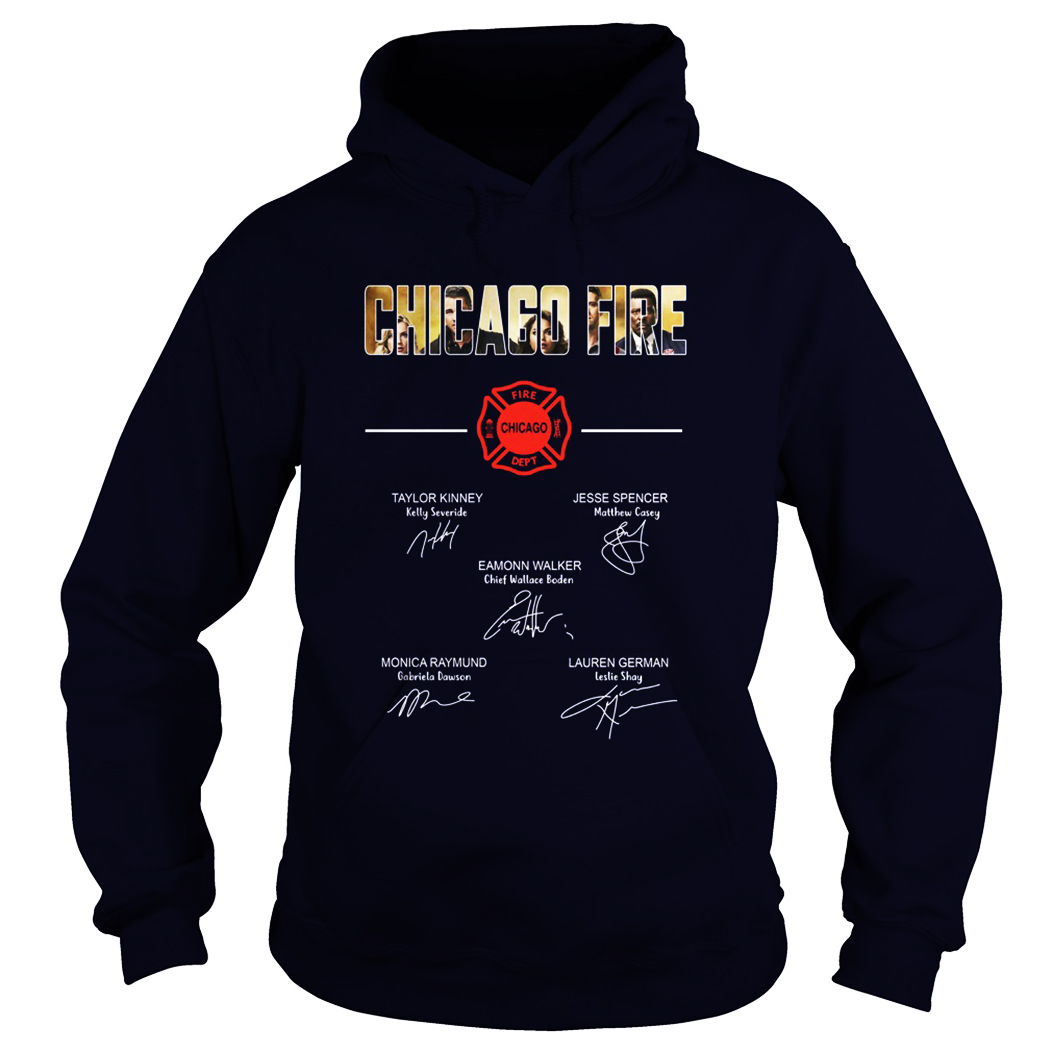 Chicago fire all actor signature hoodie