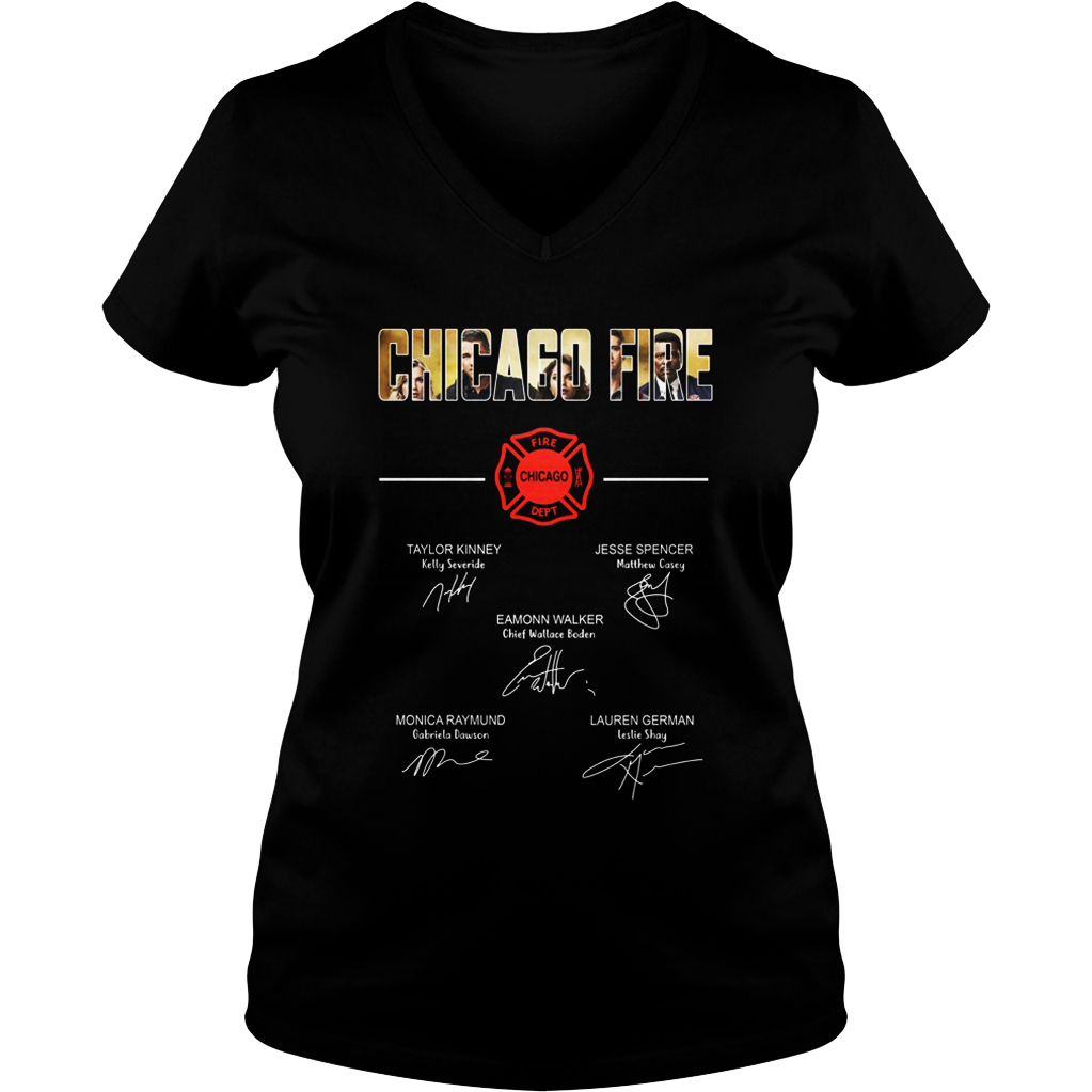 Chicago fire all actor signature v-neck