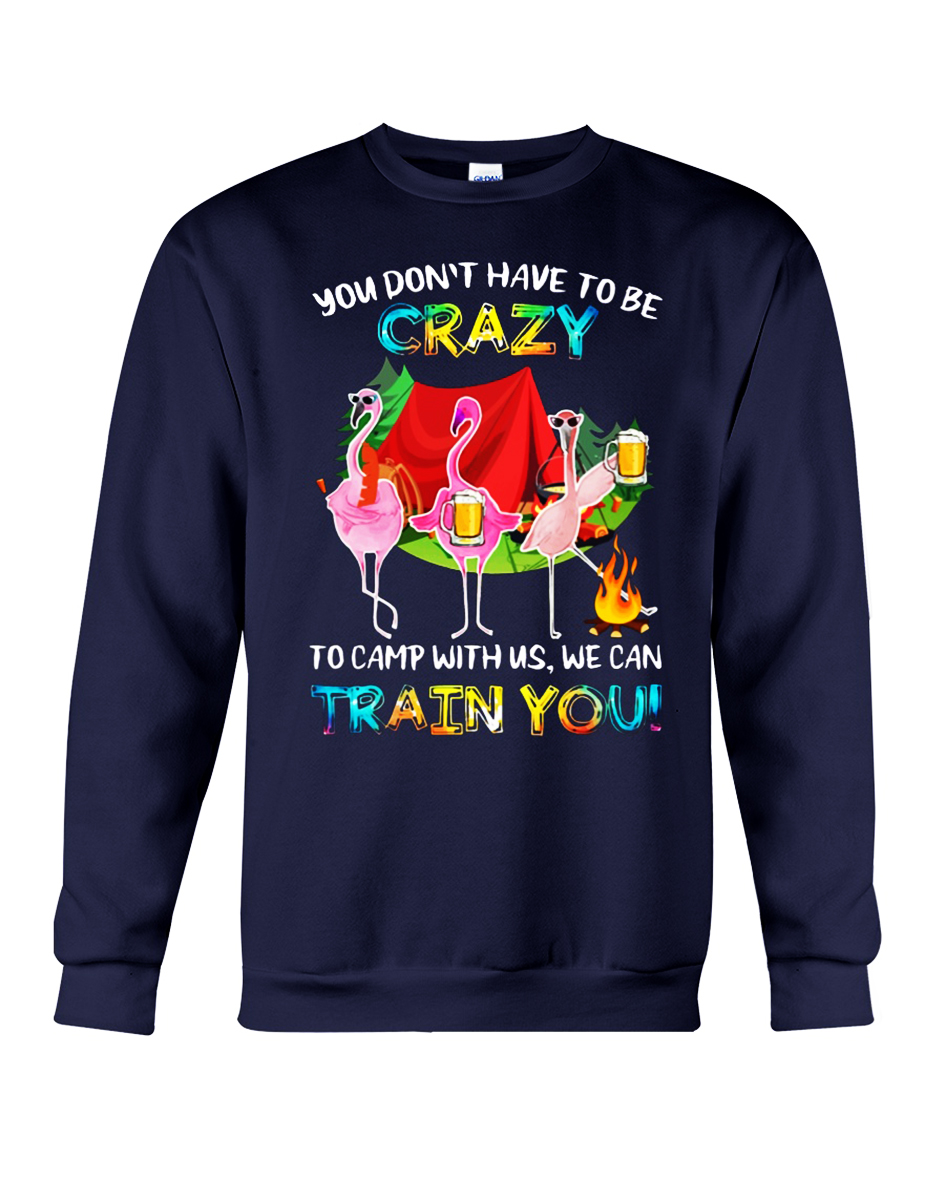 Flamingo behind every crazy wife is a husband who made her that way sweatshirt