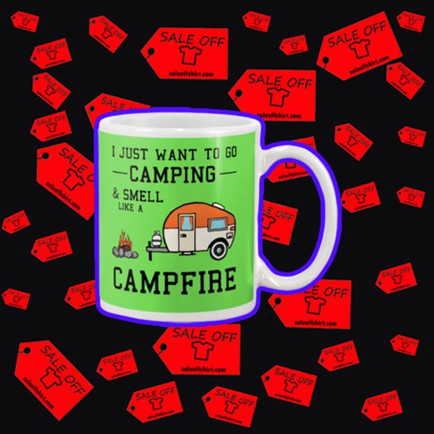 I just want to go camping and smell like a campfire mug - kiwi