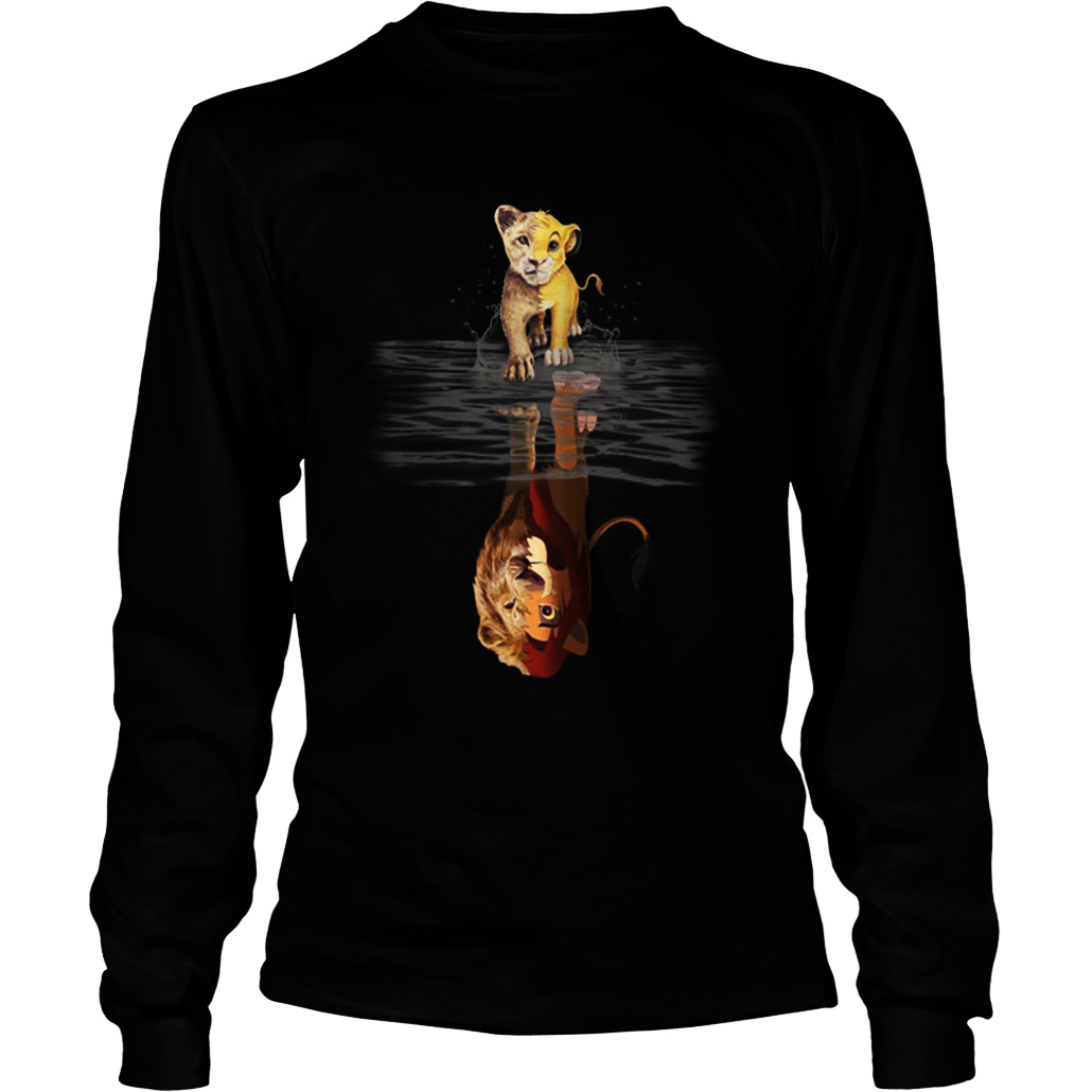 Reflection Baby Simba Lion King long sleeve tee