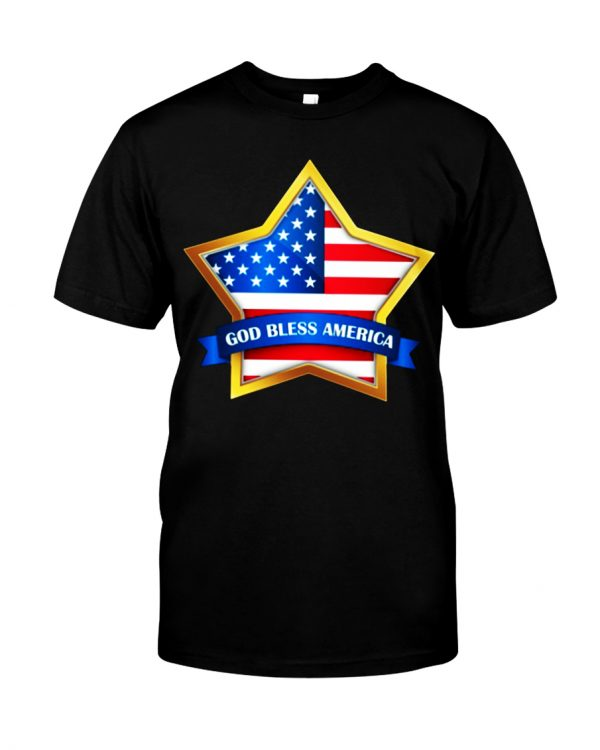 Star God bless America shirt