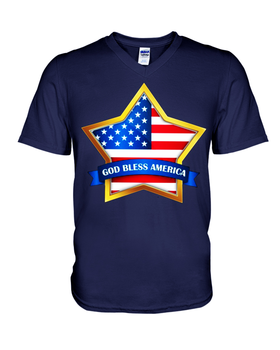 Star God bless America v-neck