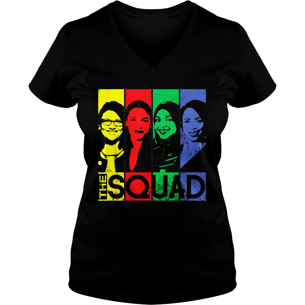 The squad AOC Omar Tlaib Pressley v-neck