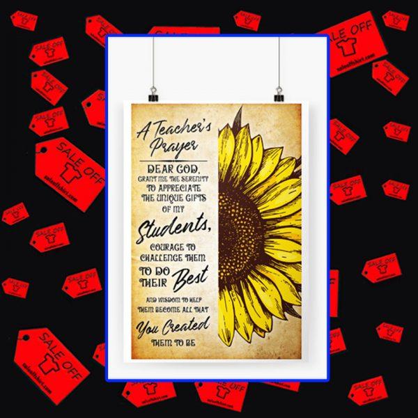 A teacher's prayer dear God poster