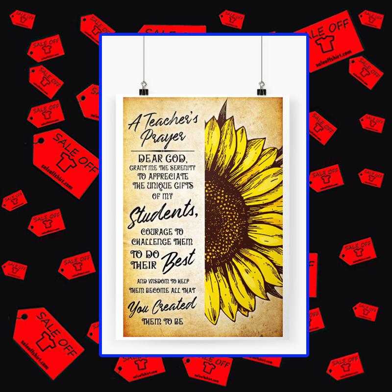 A teacher's prayer dear God poster A1 (594 x 841mm)