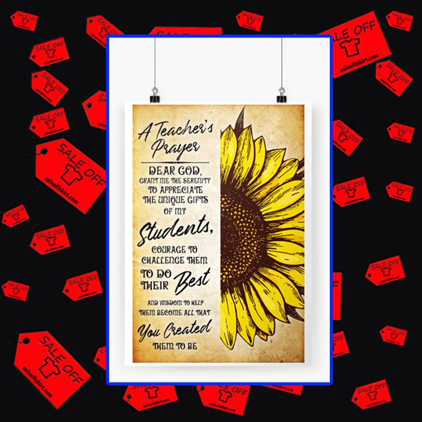 A teacher's prayer dear God poster A3 (297 x 420 mm)
