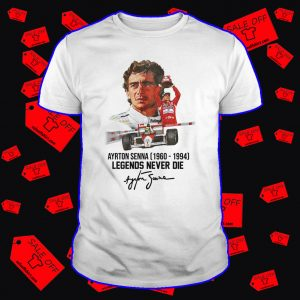 Ayrton Senna legends never die signature shirt