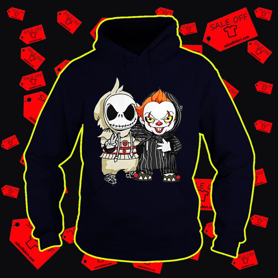 Baby Jack Skellington and Pennywise hoodie