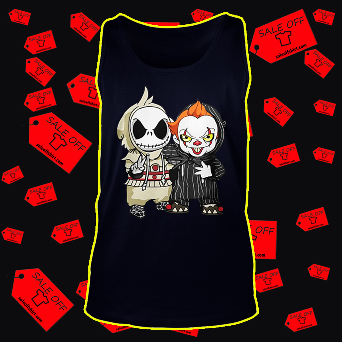 Baby Jack Skellington and Pennywise tank top