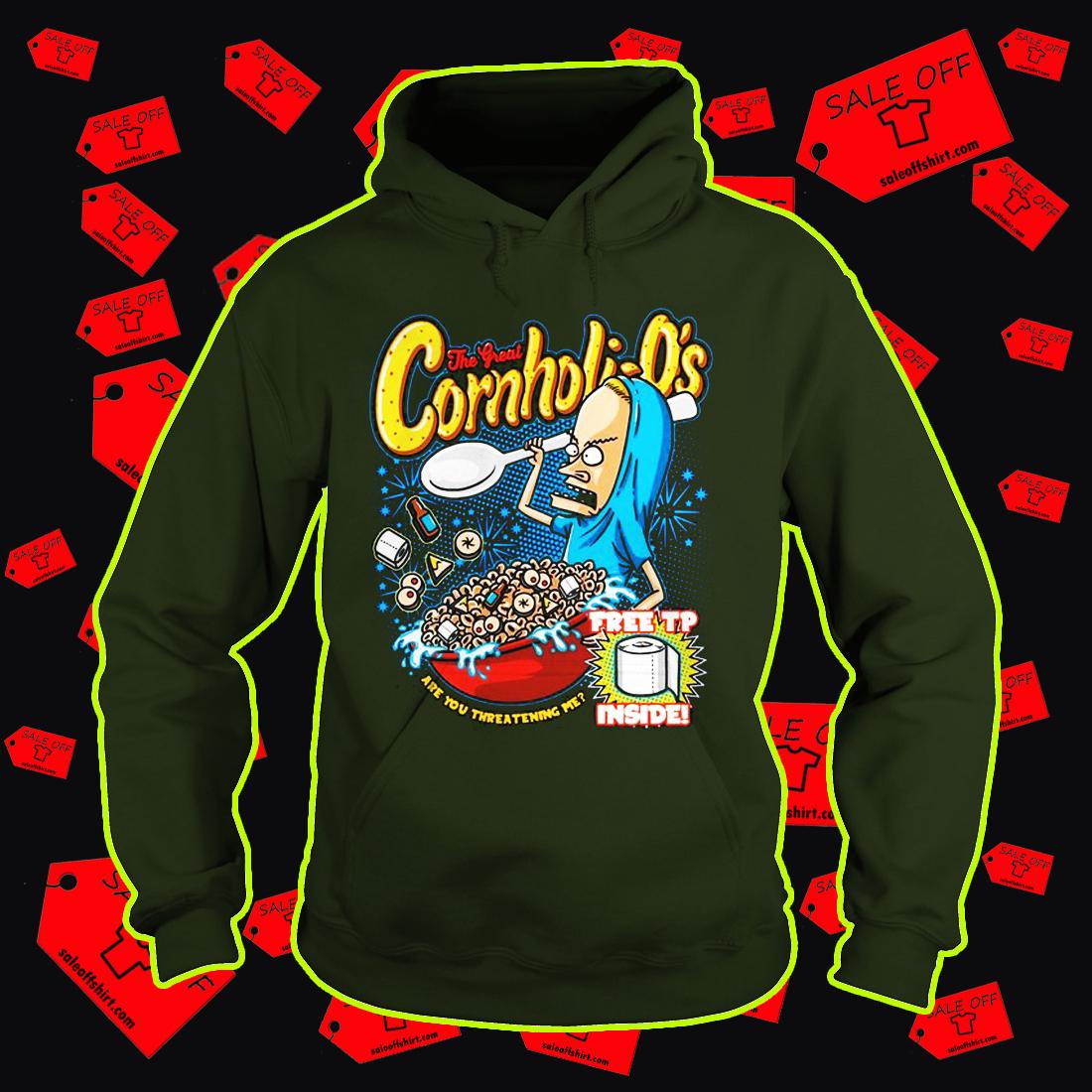 Beavis the great Cornholio free tp inside hoodie