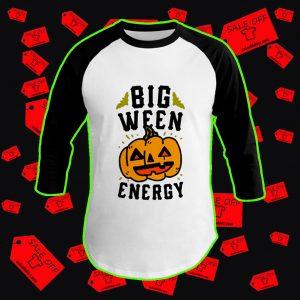 Big ween energy pumpkin baseball tee