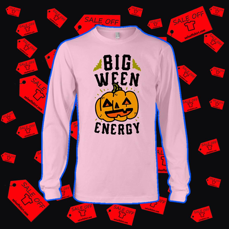 Big ween energy pumpkin long sleeve tee