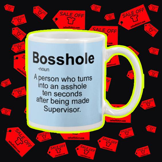 Bosshole a person who turns into an asshole mug - blue