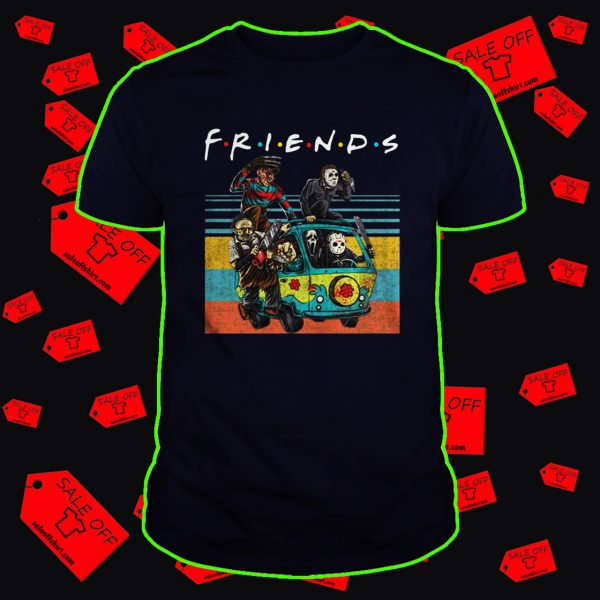 Car Horror movie characters Friends TV show shirt