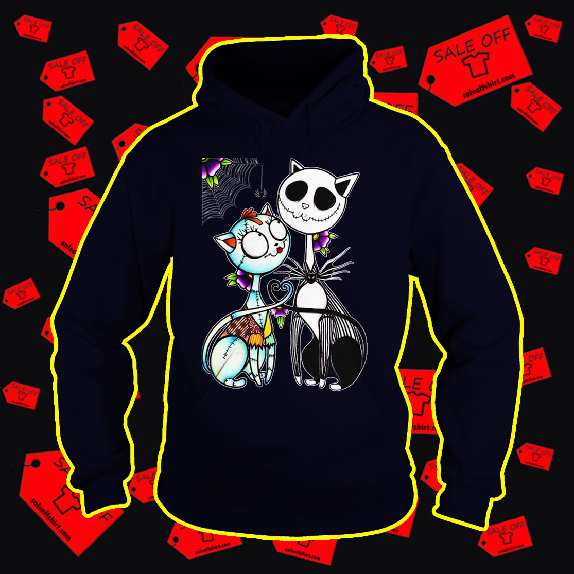 Cat Jack and Sally hoodie