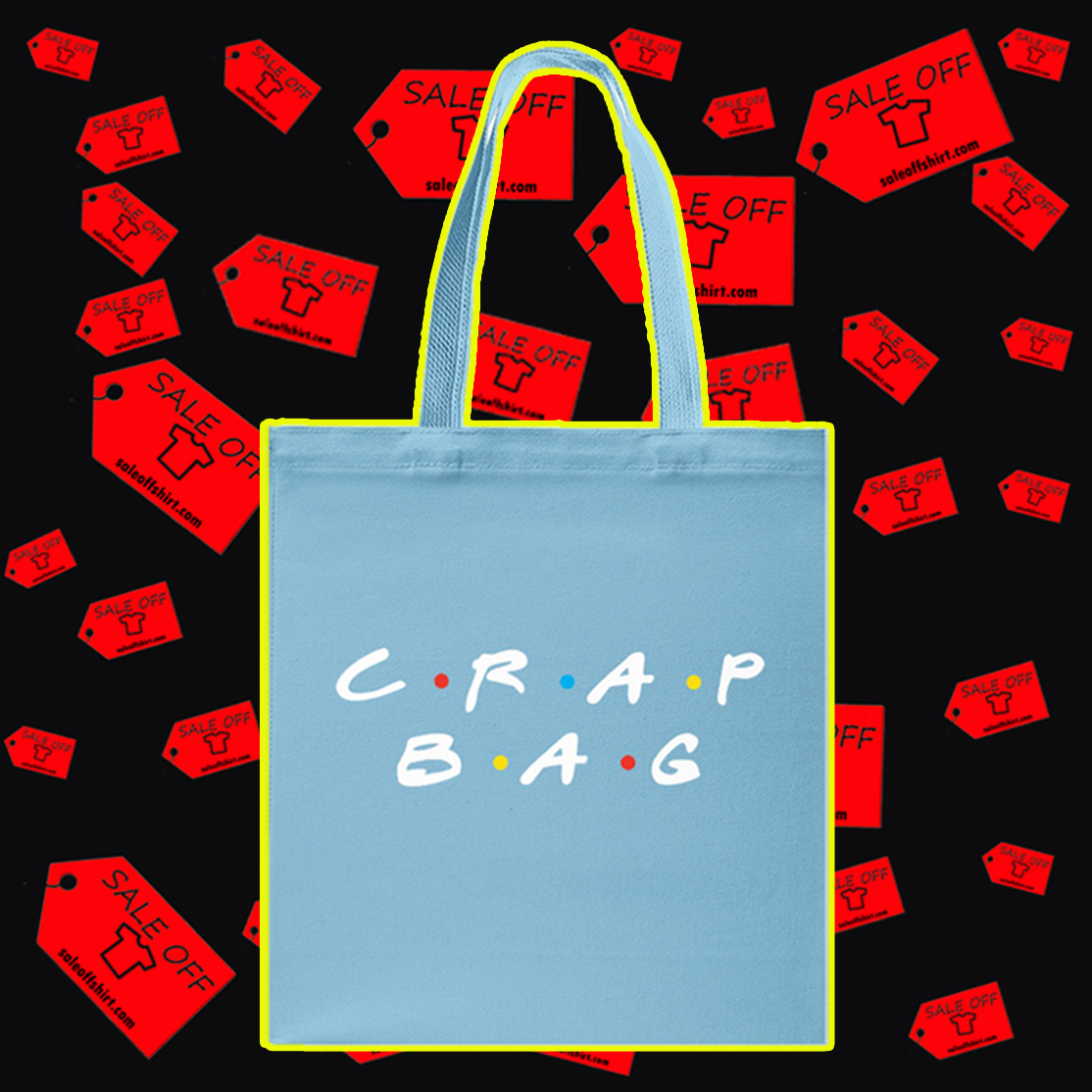 Crap bag Tote bag - blue