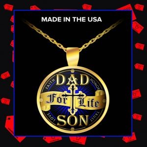 Dad for life son faith honor trust love necklace