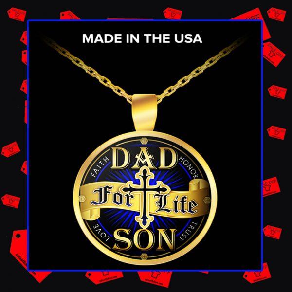 Dad for life son faith honor trust love necklace