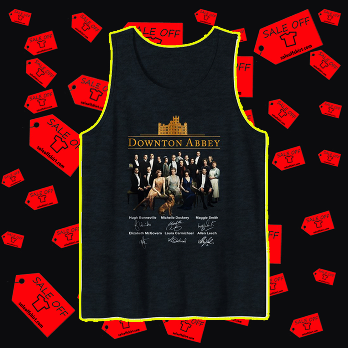 Downton Abbey all actor signature tank top