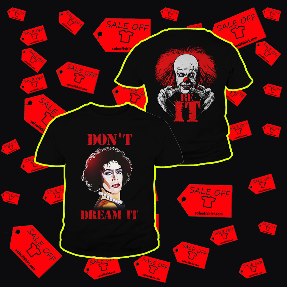 Frank N. Furter and Pennywise don't dream it be IT youth tee