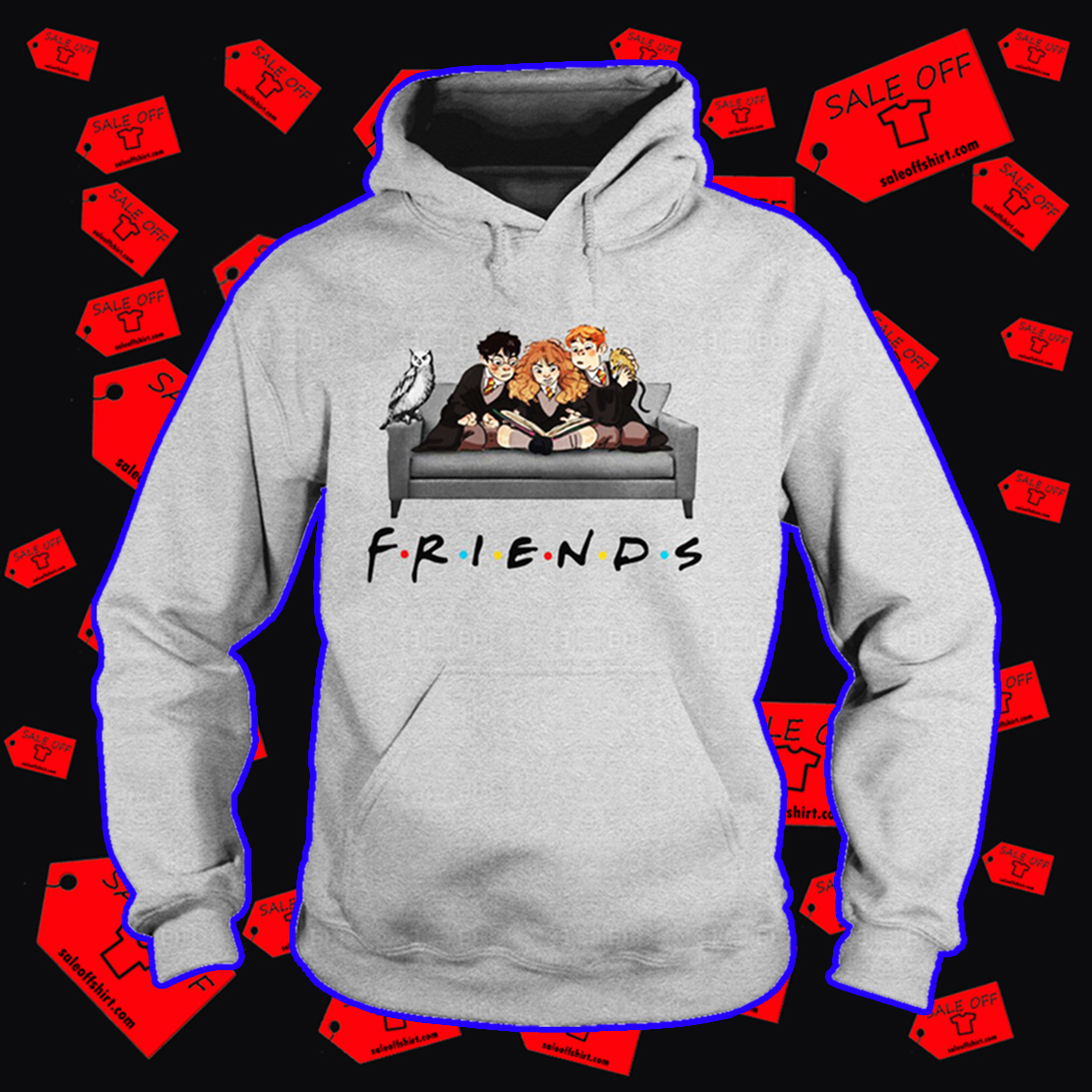 Harry Hermione and Ron friends hoodie