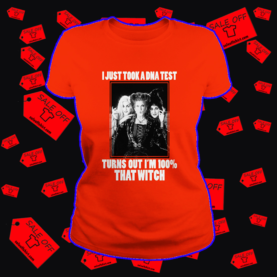 Hocus Pocus I just took a DNA test turns out I'm 100% that witch - junior cut tee