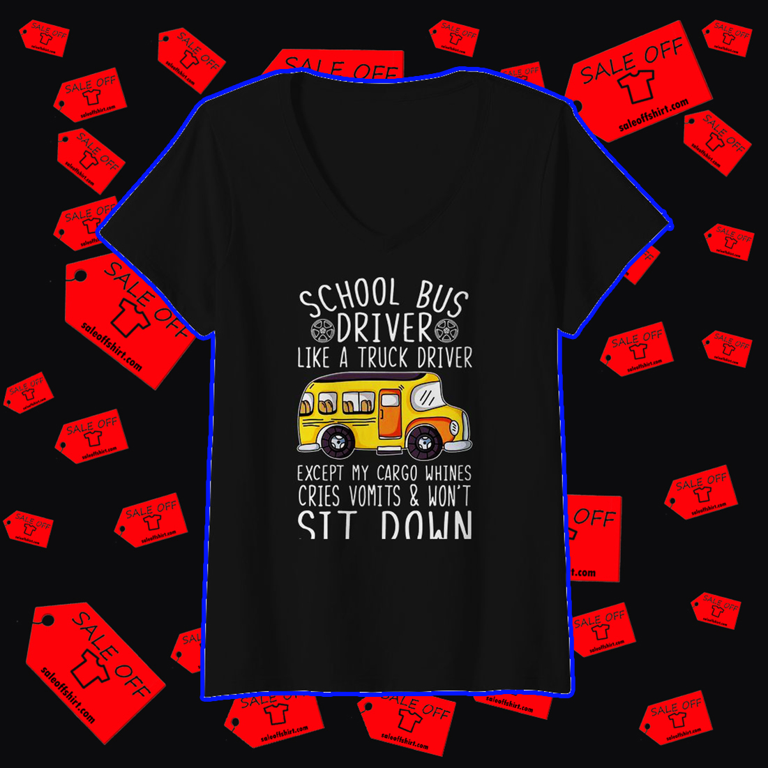 School bus driver like a truck driver v-neck