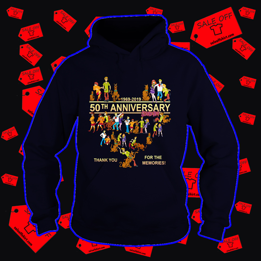 Scooby Doo 50th anniversary thank you for the memories hoodie