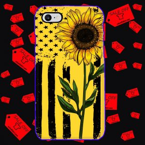 Sunflower American Flag phone case