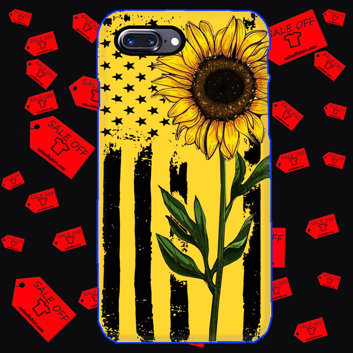 Sunflower American Flag phone case - iphone 7 plus case
