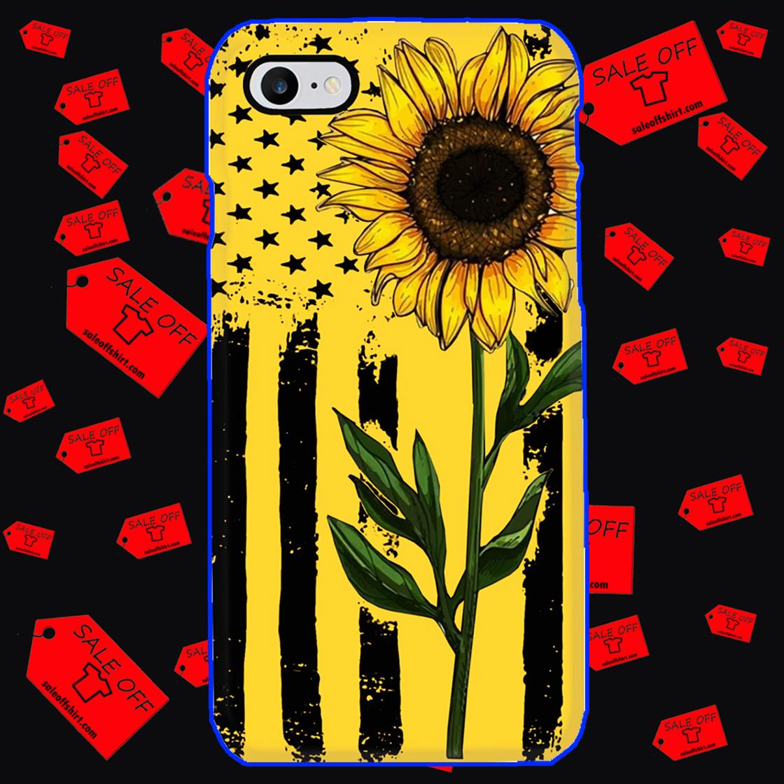 Sunflower American Flag phone case - iphone 8 case
