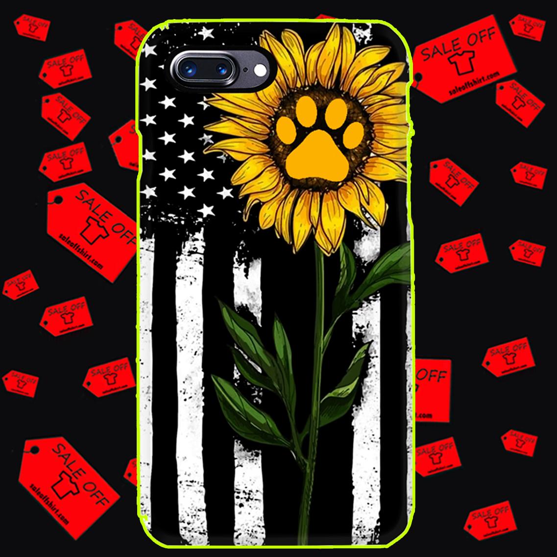 Sunflower American flag paw phone case - iphone 7 plus case