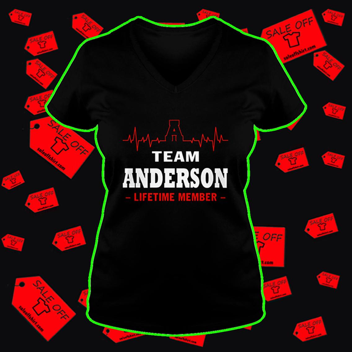 Team Anderson lifetime member v-neck