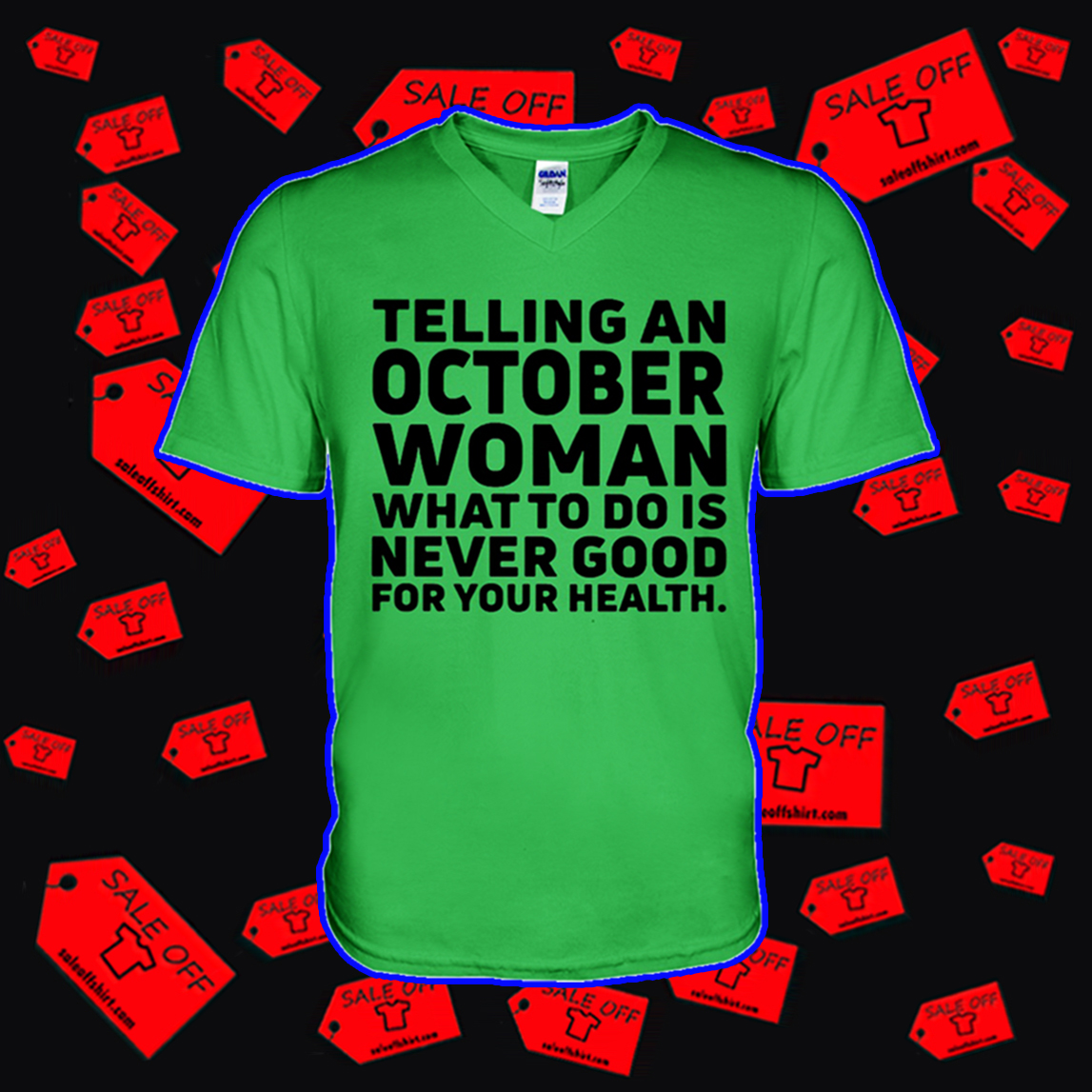 Telling an october woman v-neck
