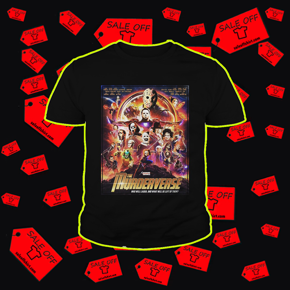 The Murderverse who will laugh youth tee