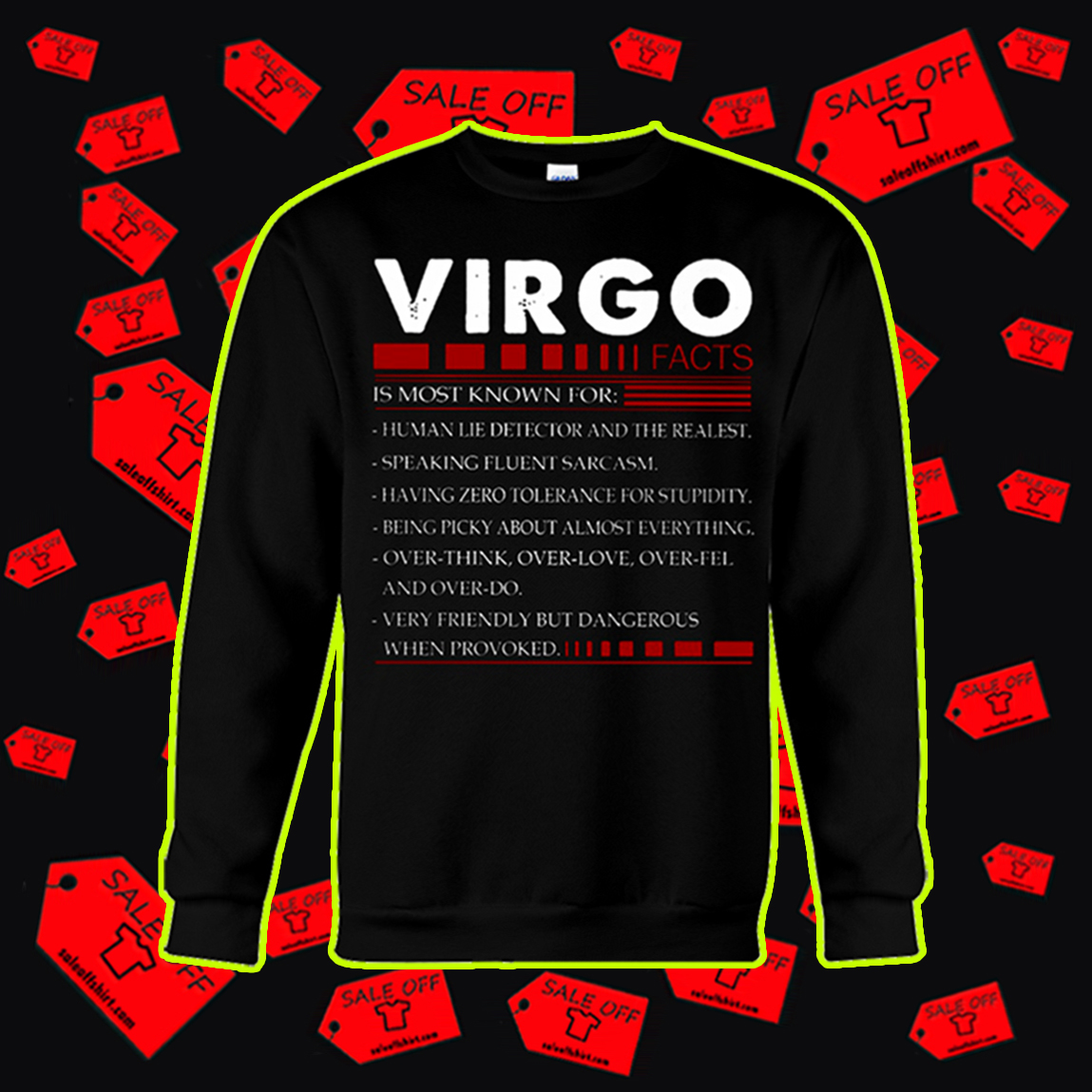 Virgo facts is most known for sweatshirt