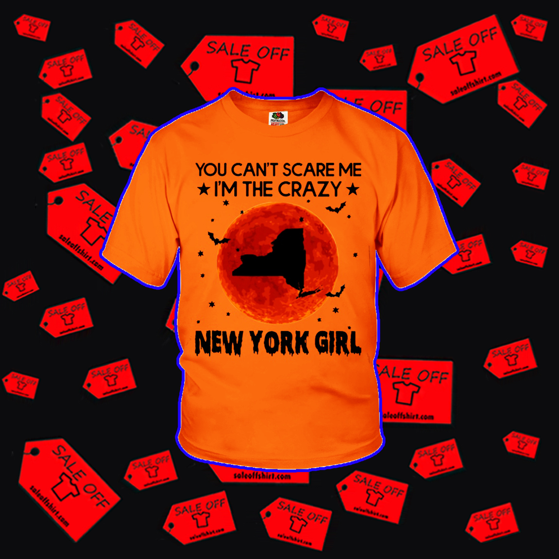 You can't scare me I'm the crazy New York girl youth t-shirt