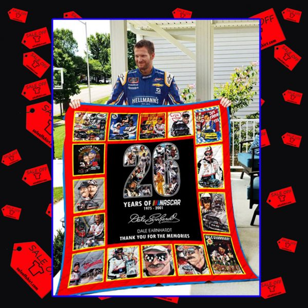 26 years of Nascar thank you for the memories quilt blanket