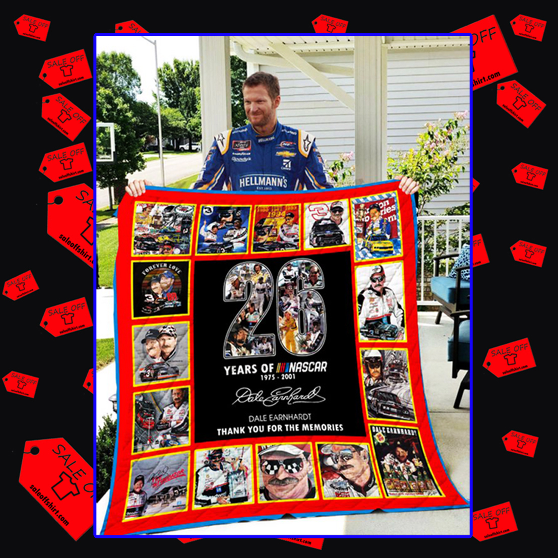 26 years of Nascar thank you for the memories quilt blanket - twin