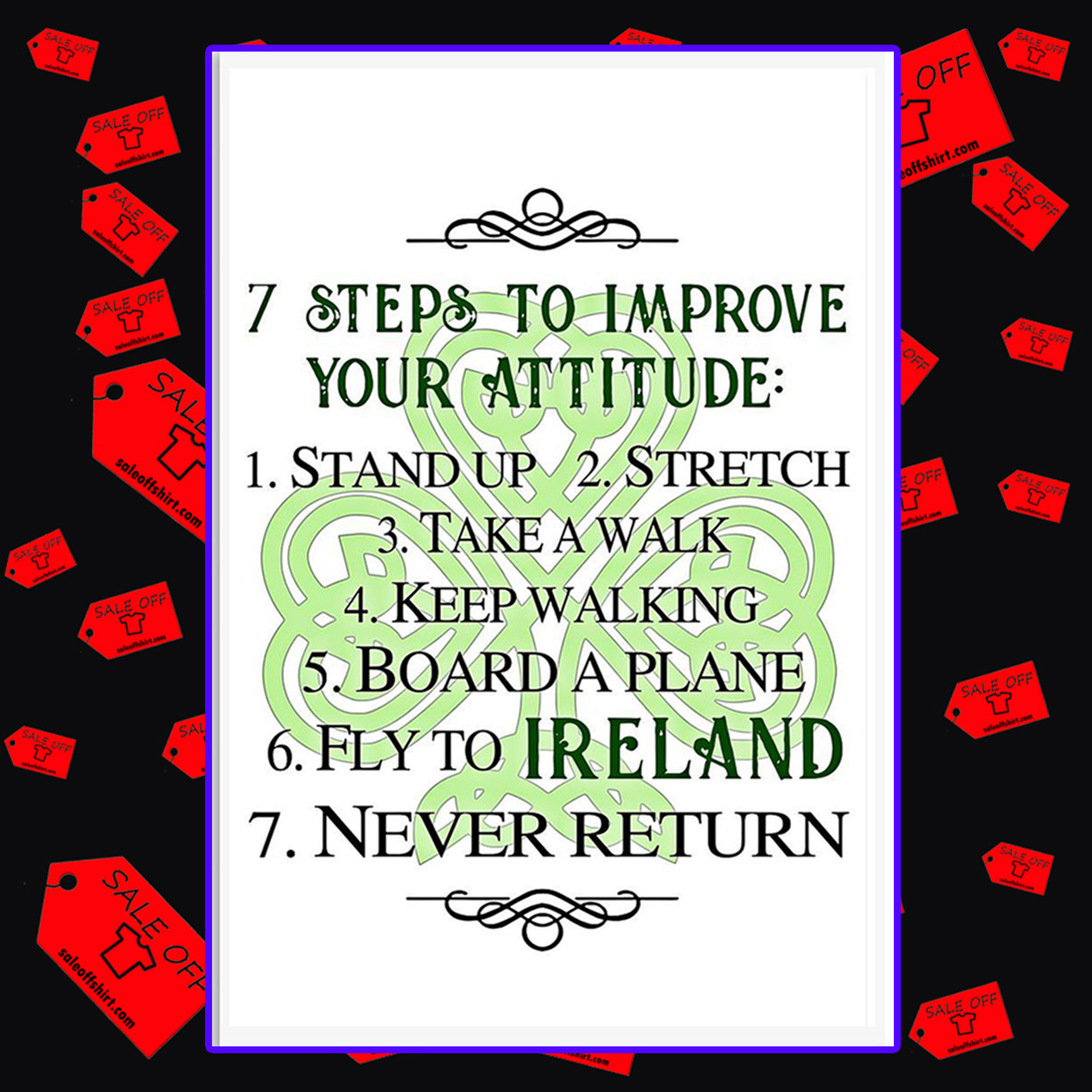 7 steps to improve your attitude poster