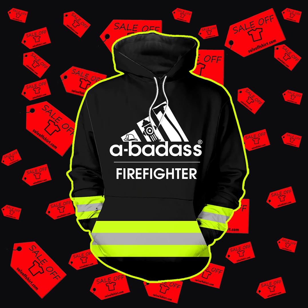 A badass firefighter hoodie 3D - black