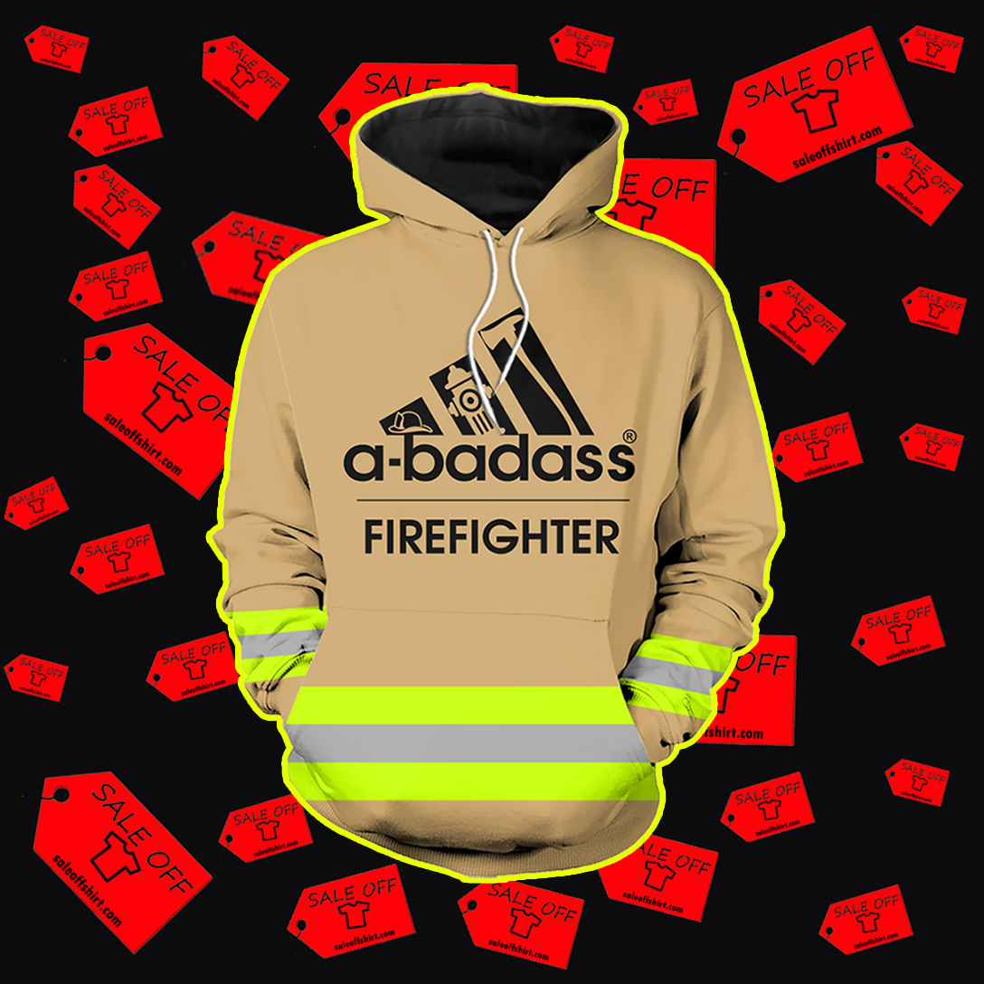 A-badass firefighter hoodie 3D - brown
