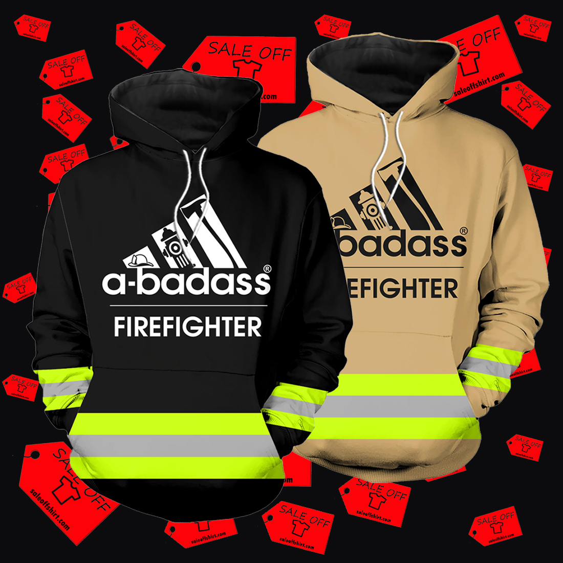 A-badass firefighter hoodie 3D