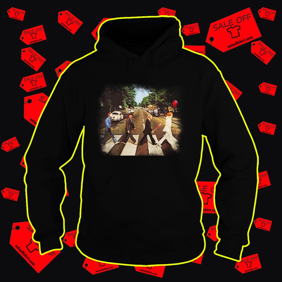 Abbey road Pennywise Michael Myers Freddy Krueger Jason Voorhees hoodie