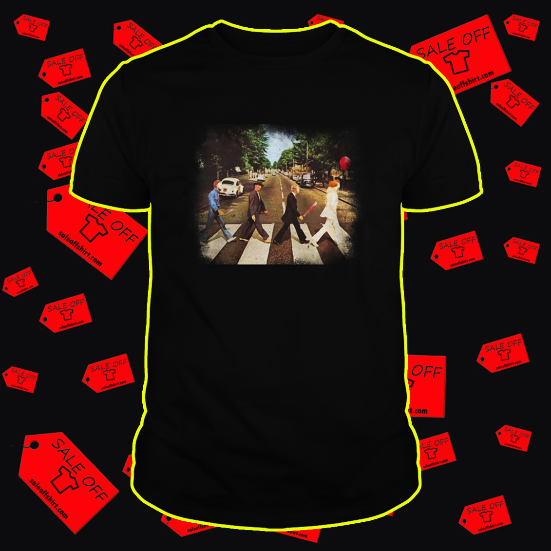 Abbey road Pennywise Michael Myers Freddy Krueger Jason Voorhees shirt