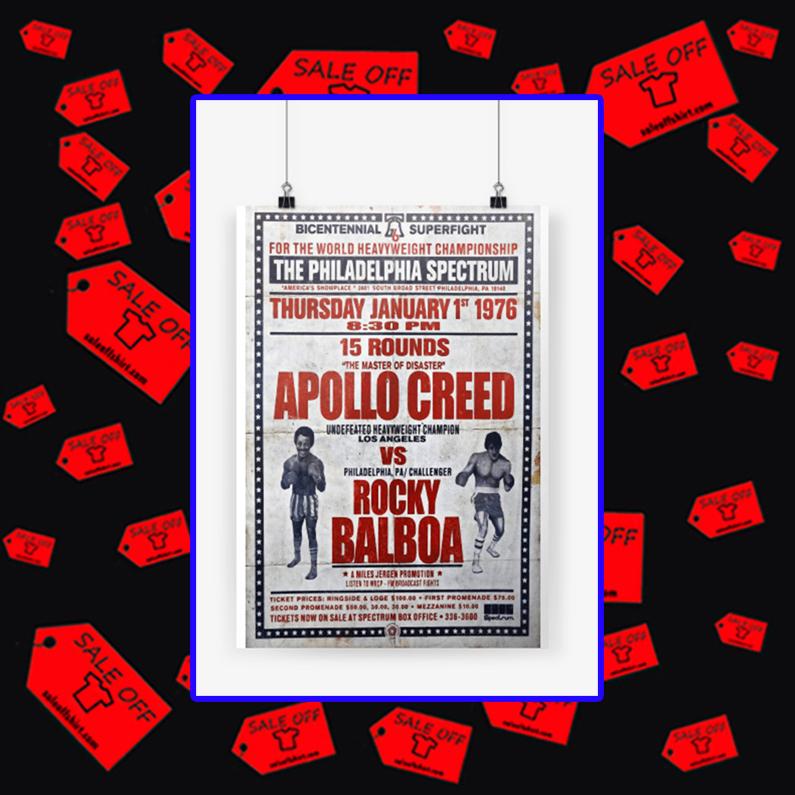 Apollo Creed vs Rocky Balboa poster A3 (297 x 420mm)
