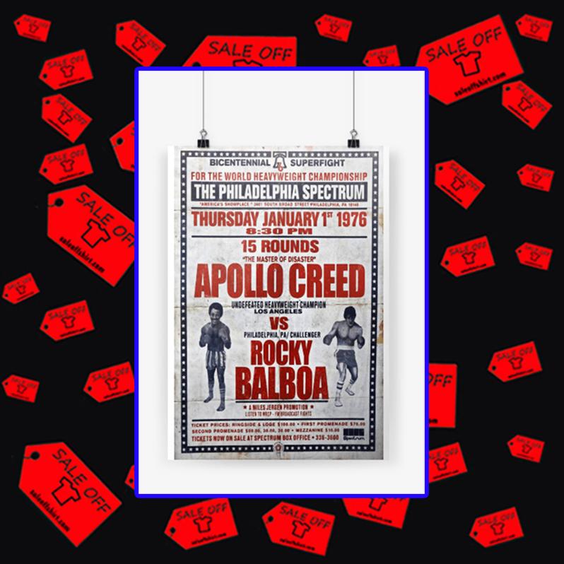 Apollo Creed vs Rocky Balboa poster A4 (210 x 297mm)
