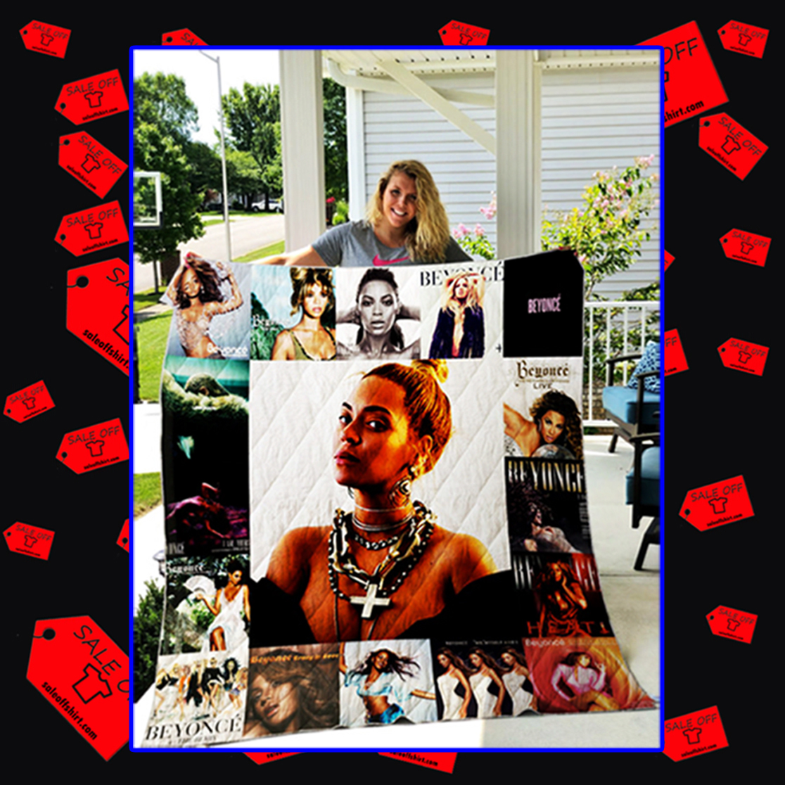 Beyoncé Quilt Blanket - king