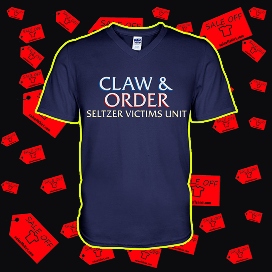 Claw and order seltzer victims unit v-neck